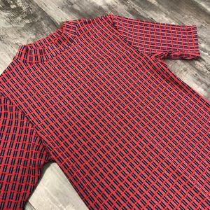 Topshop Short-sleeve High Neck Tunic Top - Sz 6
